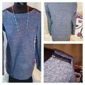 EUC Loft Blue/Gray Sweatshirt